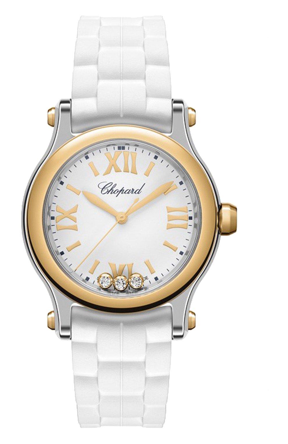 Женские часы happy sport steel rose gold white CHOPARD серебряного цвета, арт. 278590-6001 | Фото 1