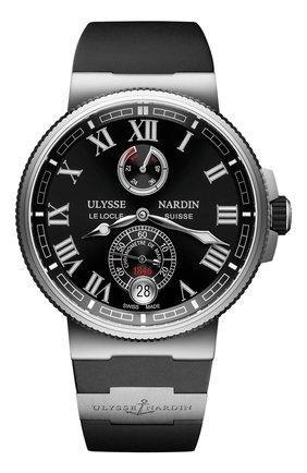 Мужские часы chronometer ULYSSE NARDIN черного цвета, арт. 1183-126-3/42 | Фото 1