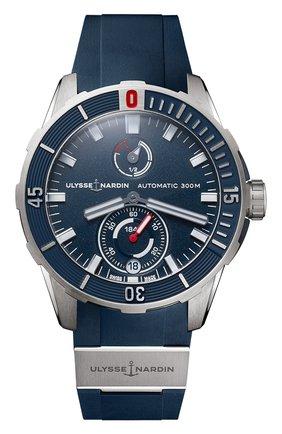Мужские часы diver chronometer ULYSSE NARDIN синего цвета, арт. 1183-170-3/93 | Фото 1