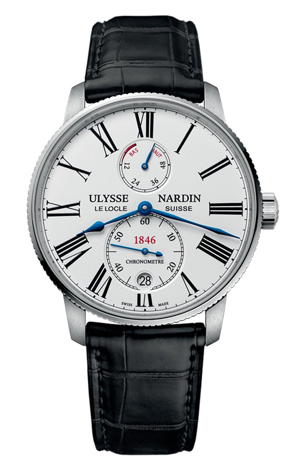 Мужские часы torpilleur ULYSSE NARDIN бесцветного цвета, арт. 1183-310/40 | Фото 1 (Механизм: Автомат; Материал корпуса: Сталь; Цвет циферблата: Белый)