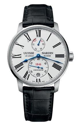 Мужские часы torpilleur ULYSSE NARDIN белого цвета, арт. 1183-310/40 | Фото 1
