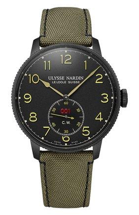 Мужские часы torpilleur ULYSSE NARDIN черного цвета, арт. 1183-320LE/BLACK | Фото 1