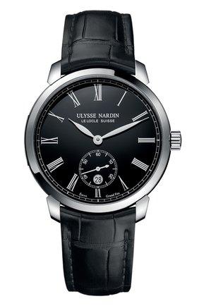 Мужские часы classico ULYSSE NARDIN черного цвета, арт. 3203-136-2/E2 | Фото 1