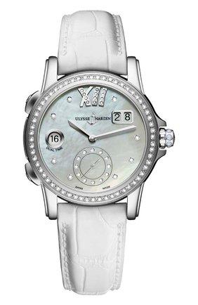 Женские часы dual time lady ULYSSE NARDIN перламутрового цвета, арт. 3343-222B/391 | Фото 1