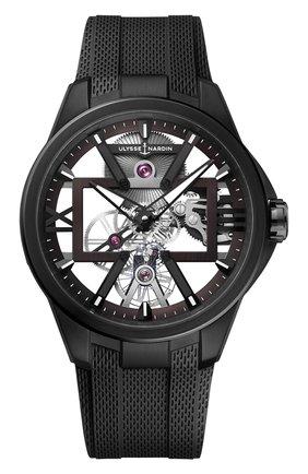 Мужские часы skeleton x ULYSSE NARDIN серого цвета, арт. 3713-260-3/BLACK | Фото 1