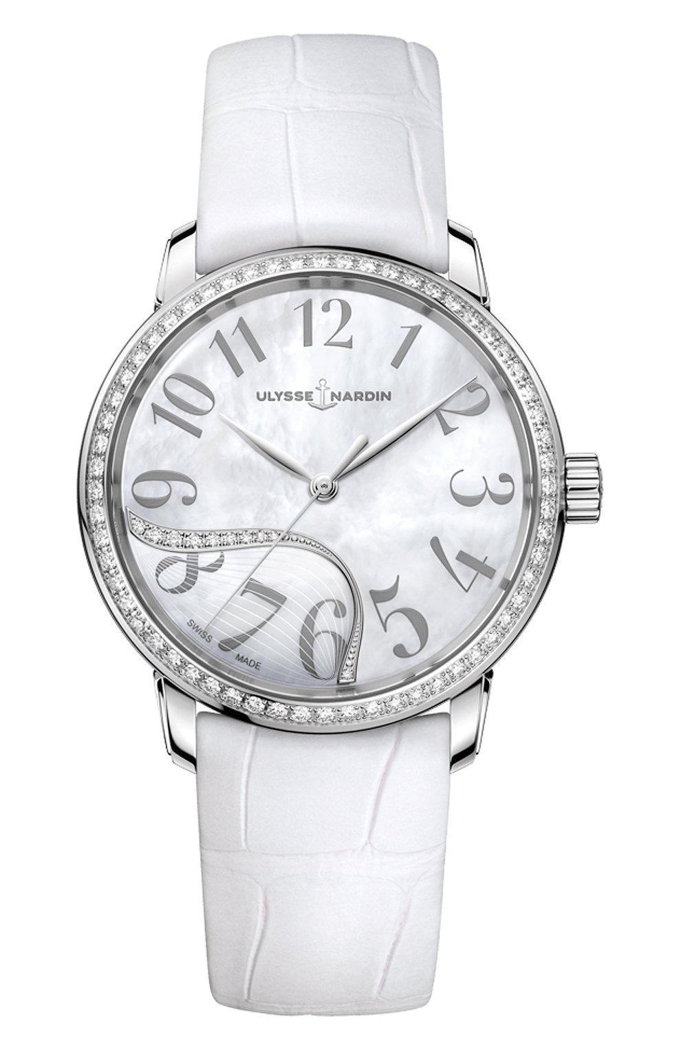 Женские часы classico jade ULYSSE NARDIN перламутрового цвета, арт. 8153-201B/60-01   Фото 1