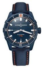 Мужские часы diver 42 mm ULYSSE NARDIN бесцветного цвета, арт. 8163-175LE/93-BLUESHARK | Фото 1