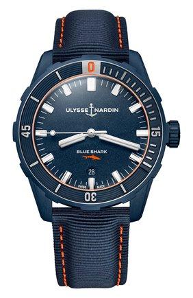 Мужские часы diver 42 mm ULYSSE NARDIN синего цвета, арт. 8163-175LE/93-BLUESHARK | Фото 1