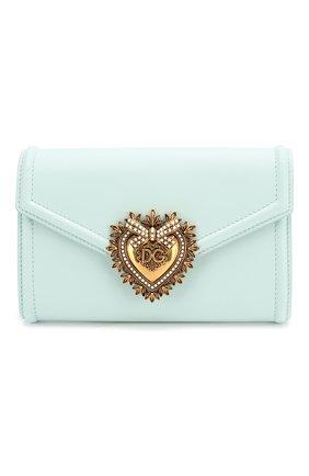 Женская поясная сумка devotion DOLCE & GABBANA голубого цвета, арт. BB6706/AV893   Фото 1