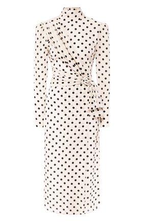 Женское шелковое платье ALESSANDRA RICH черно-белого цвета, арт. FAB2027-F2818 | Фото 1