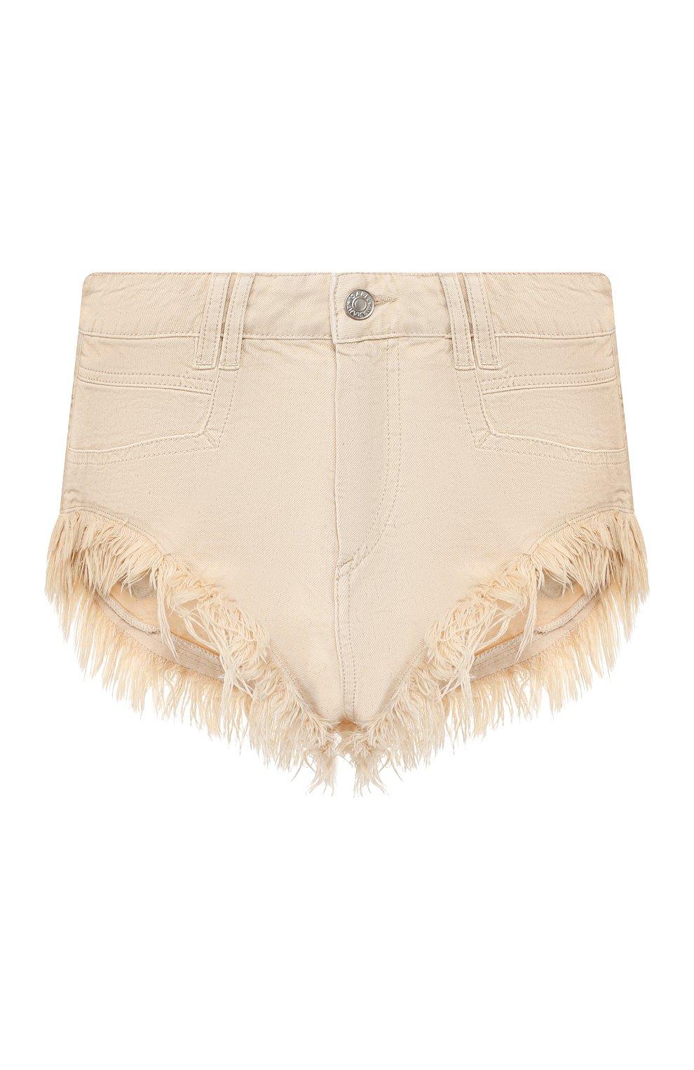 Женские джинсовые шорты ISABEL MARANT кремвого цвета, арт. SH0331-20E010I/ENEIDA   Фото 1