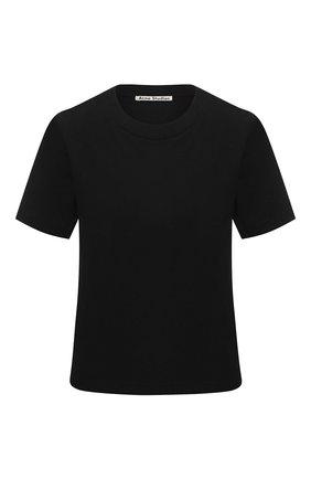Женская хлопковая футболка ACNE STUDIOS черного цвета, арт. AL0111/W | Фото 1