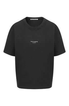 Женская хлопковая футболка ACNE STUDIOS черного цвета, арт. AL0135/W | Фото 1