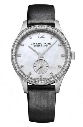 Женские часы l.u.c elegance ultra-slim CHOPARD перламутрового цвета, арт. 131968-1001   Фото 1
