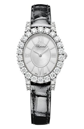 Женские часы l'heure du diamant CHOPARD перламутрового цвета, арт. 139384-1104   Фото 1