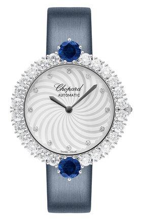 Женские часы white gold diamond sapphire CHOPARD перламутрового цвета, арт. 139435-1903   Фото 1