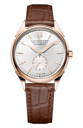 Мужские часы qualite fleurier CHOPARD серебряного цвета, арт. 161896-5002 | Фото 1