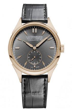 Мужские часы qualite fleurier CHOPARD темно-серого цвета, арт. 161896-5003 | Фото 1