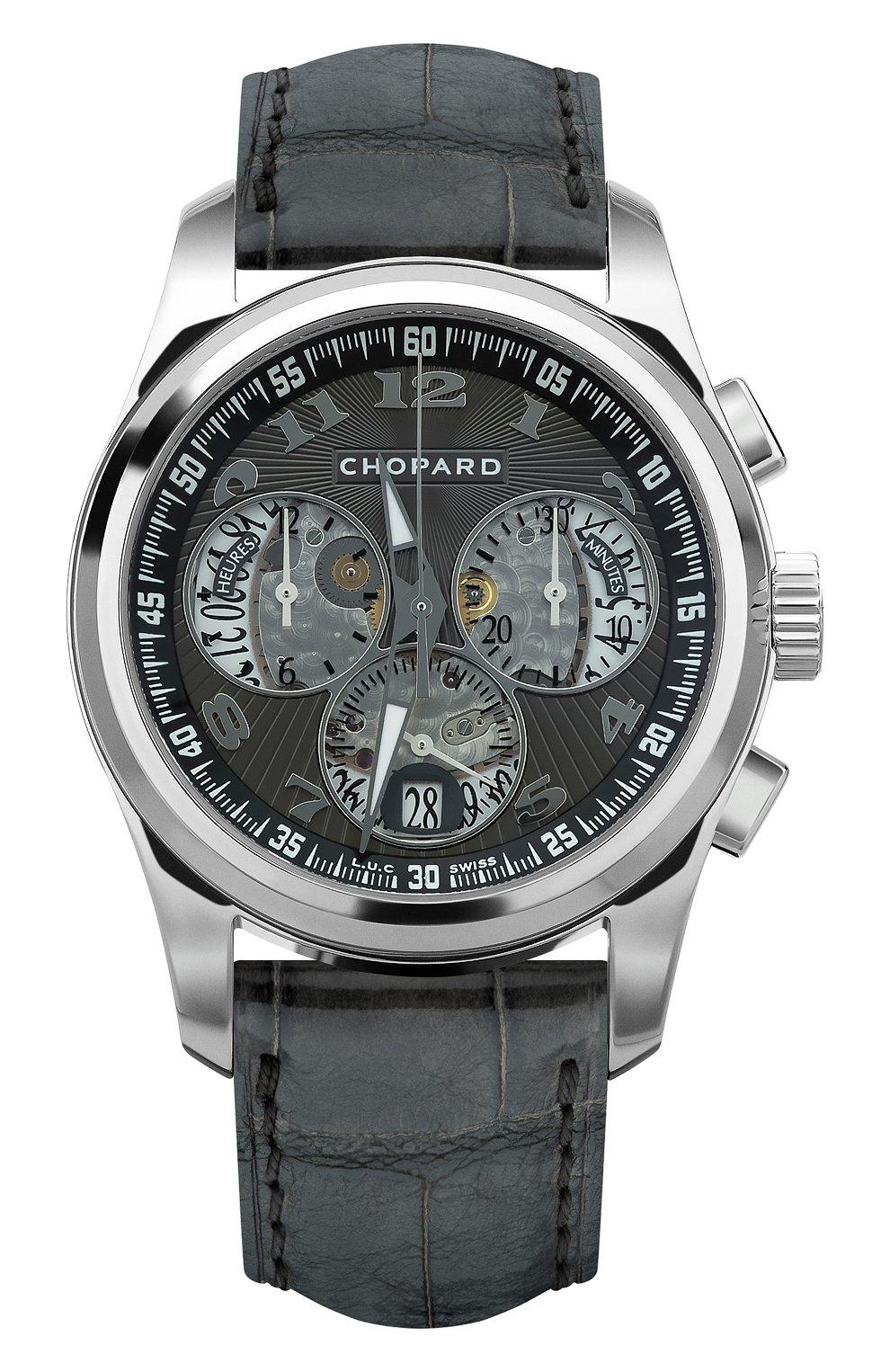 Мужские часы l.u.c chrono one CHOPARD черного цвета, арт. 161916-1001 | Фото 1
