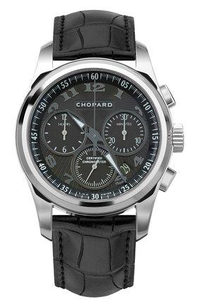 Мужские часы l.u.c chrono one CHOPARD черного цвета, арт. 161916-1002 | Фото 1