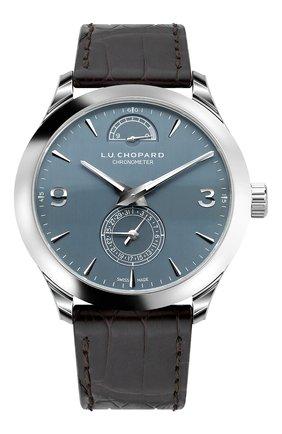 Мужские часы l.u.c quattro CHOPARD синего цвета, арт. 161926-1002 | Фото 1