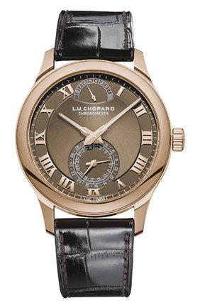Мужские часы quattro CHOPARD коричневого цвета, арт. 161926-5003 | Фото 1