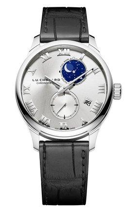 Мужские часы lunar twin CHOPARD серебряного цвета, арт. 161934-1001 | Фото 1