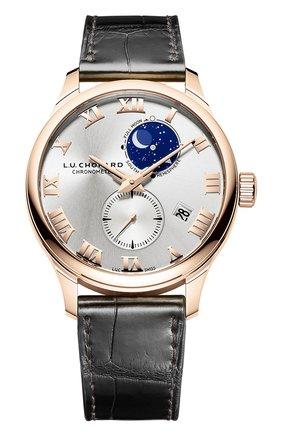 Мужские часы lunar twin CHOPARD серебряного цвета, арт. 161934-5001 | Фото 1