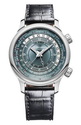 Мужские часы time traveler CHOPARD серебряного цвета, арт. 161942-9001 | Фото 1