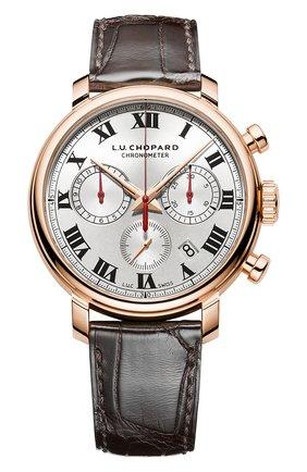 Мужские часы 1963 chronograph CHOPARD серебряного цвета, арт. 161964-5001 | Фото 1
