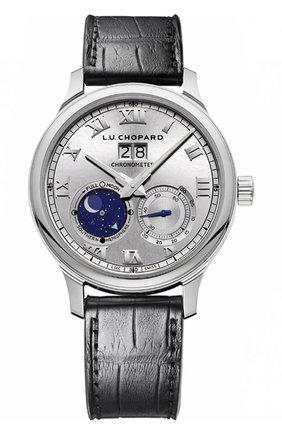 Мужские часы lunar big date CHOPARD серебряного цвета, арт. 161969-1001 | Фото 1