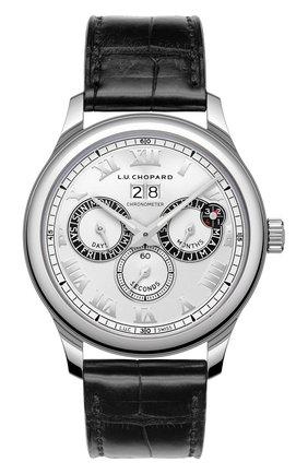 Мужские часы perpetual twin CHOPARD серебряного цвета, арт. 168561-3001 | Фото 1
