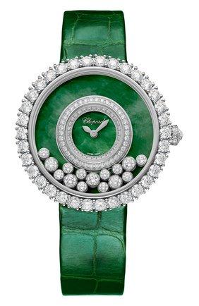 Женские часы happy diamonds joaillerie CHOPARD зеленого цвета, арт. 204445-1009 | Фото 1