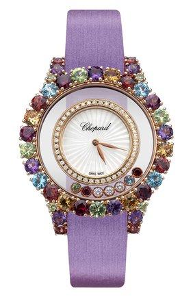 Женские часы rose gold happy circle multi-color CHOPARD перламутрового цвета, арт. 209430-5801   Фото 1