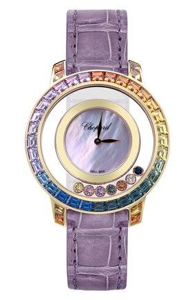 Женские часы rose gold sapphire rainbow CHOPARD перламутрового цвета, арт. 20A002-5901   Фото 1