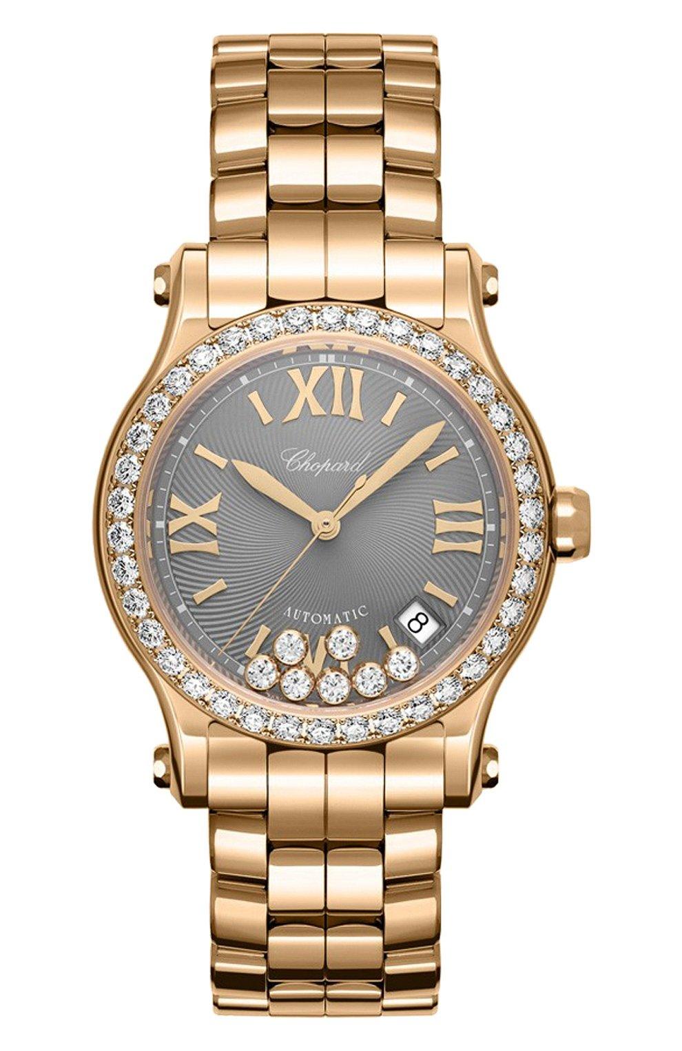 Женские часы happy sport CHOPARD серого цвета, арт. 274808-5015   Фото 1