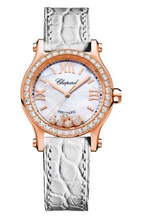 Женские часы happy sport automatic CHOPARD перламутрового цвета, арт. 274893-5010   Фото 1