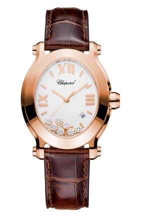 Женские часы happy sport oval CHOPARD перламутрового цвета, арт. 275350-5001   Фото 1