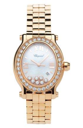 Женские часы happy sport CHOPARD перламутрового цвета, арт. 275350-5004   Фото 1
