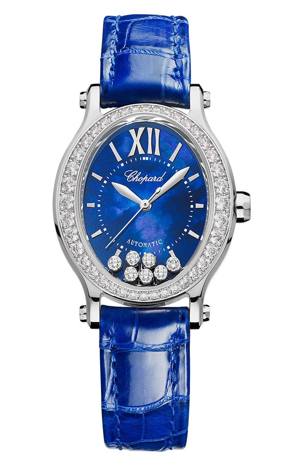 Женские часы happy sport CHOPARD синего цвета, арт. 275362-1001 | Фото 1
