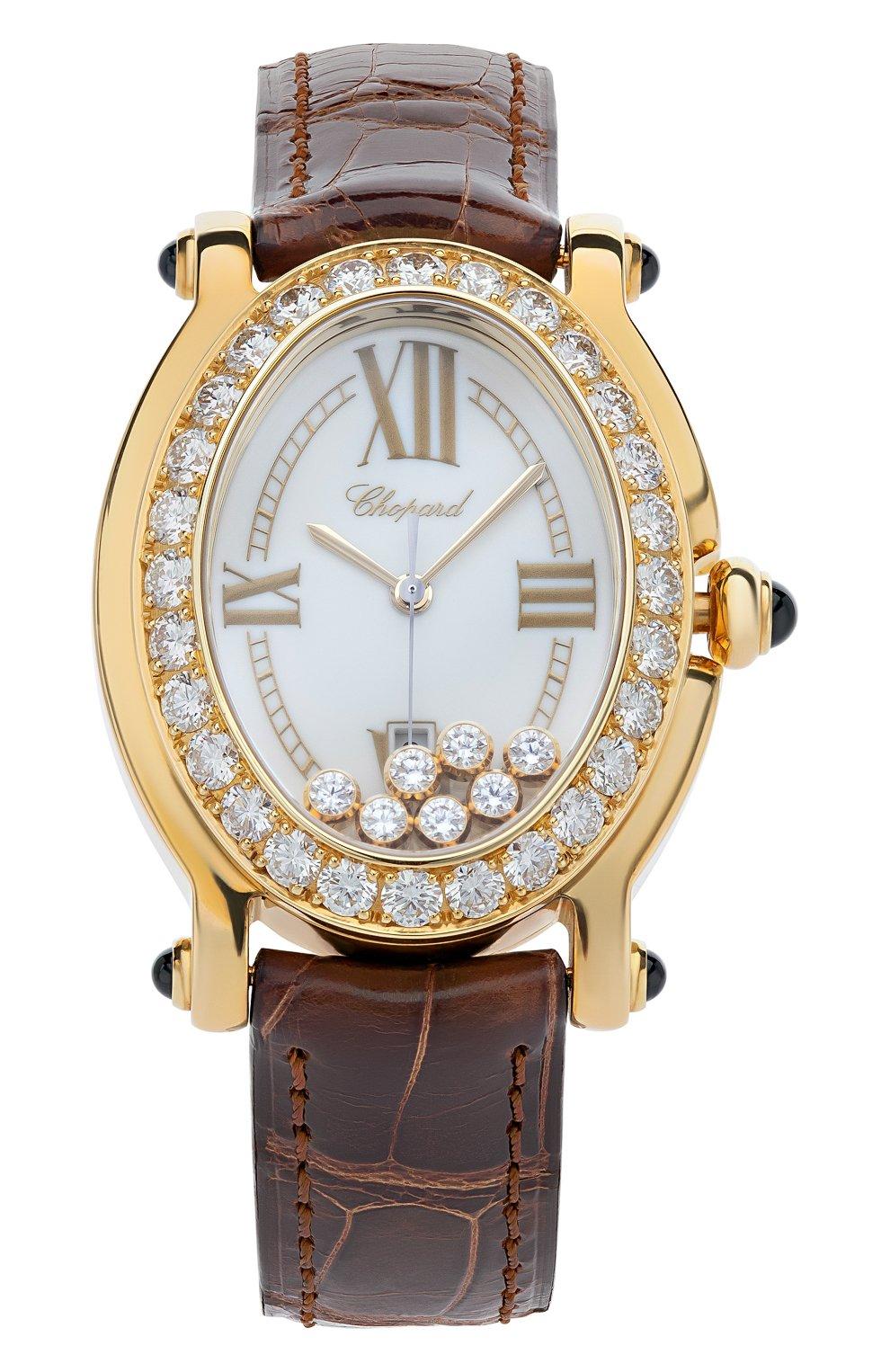 Женские часы happy sport CHOPARD перламутрового цвета, арт. 277000-0008 | Фото 1