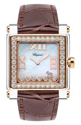 Женские часы happy sport square CHOPARD белого цвета, арт. 278497-9002   Фото 1