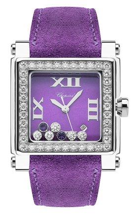 Женские часы happy sport square CHOPARD фиолетового цвета, арт. 278504-2002 | Фото 1