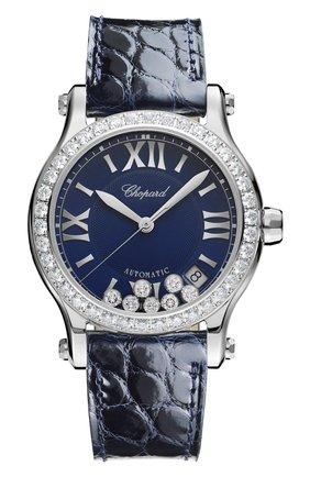 Женские часы happy sport automatic CHOPARD синего цвета, арт. 278559-3006 | Фото 1