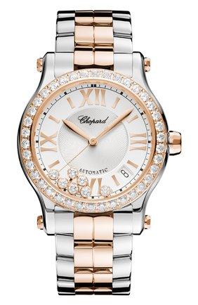 Женские часы happy sport automatic CHOPARD серебряного цвета, арт. 278559-6004 | Фото 1