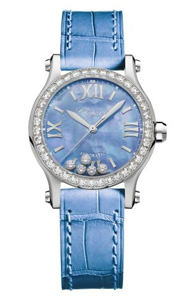 Женские часы 30 mm automatic CHOPARD голубого цвета, арт. 278573-3010 | Фото 1
