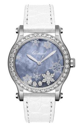 Женские часы happy snowflakes CHOPARD перламутрового цвета, арт. 278578-3001 | Фото 1
