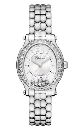 Женские часы happy sport steel oval CHOPARD серебряного цвета, арт. 278602-3004 | Фото 1