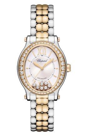 Женские часы happy sport oval CHOPARD перламутрового цвета, арт. 278602-6004 | Фото 1