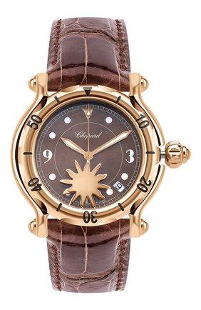 Женские часы happy sun CHOPARD коричневого цвета, арт. 283578-5001 | Фото 1